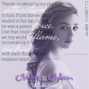 Amber to Ashes Teaser #4 - #RentasticReads #BabblingChatterReads